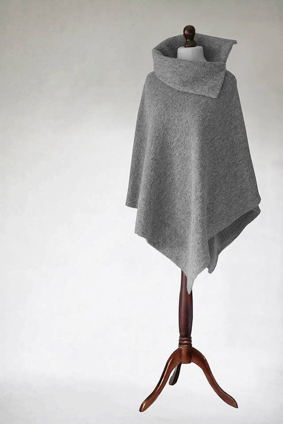 Women cape Wool poncho woman poncho wrap women by KnitwearFactory