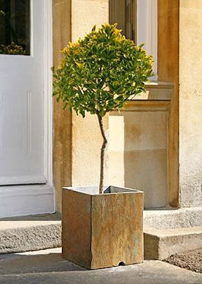 Monaco Natural Stone Garden Pots - Quarried Slate Planters