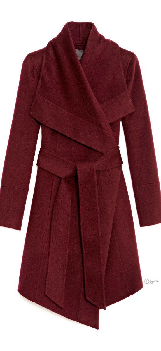 Donna Karan ● Belted Draped Cashmere Coat