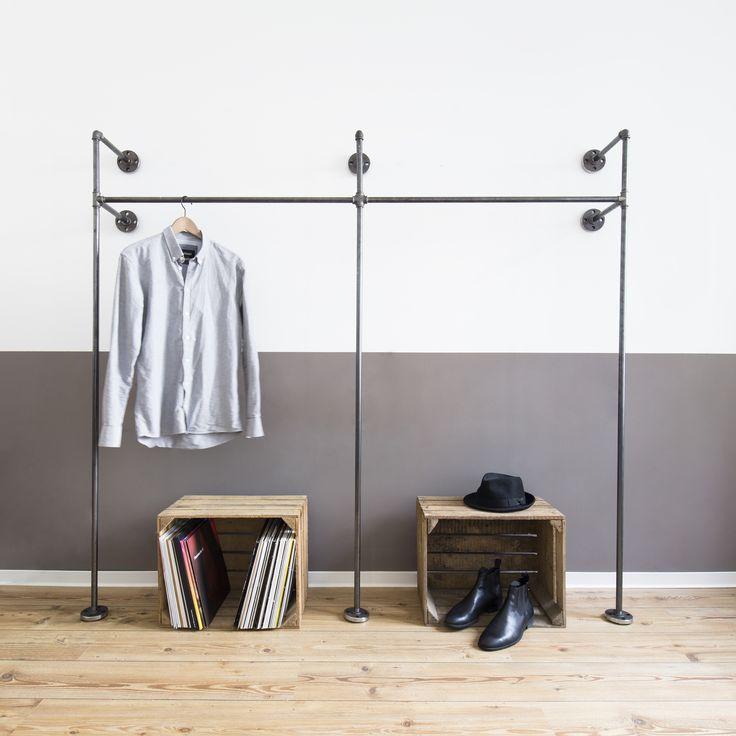 offener kleiderschrank open wardrobe kleiderstange clothes rail clothing rail clothes. Black Bedroom Furniture Sets. Home Design Ideas