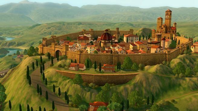 Sims 3 Monte Vista - Château médieval