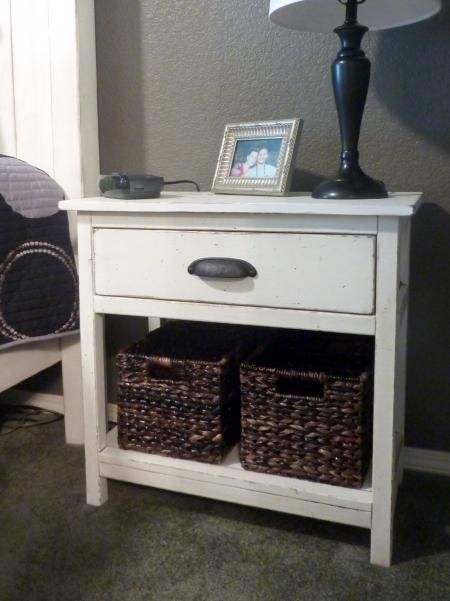Farmhouse Bedside Table   Do It Yourself Home Projects from Ana WhiteBest 20  Side tables bedroom ideas on Pinterest   Night stands  . Side Table For Bedroom. Home Design Ideas