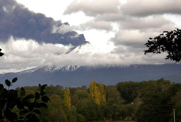 Volcan llaima  en curacautin.