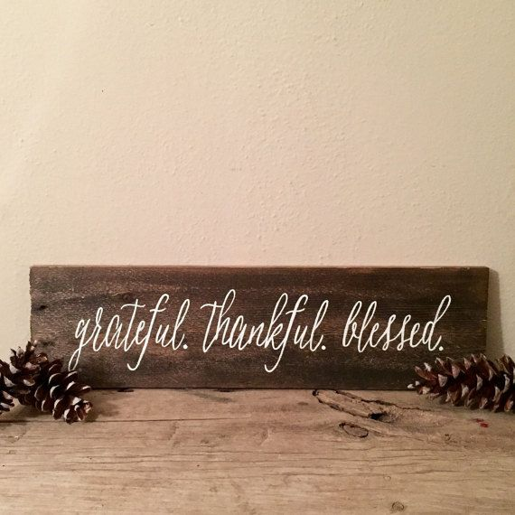 grateful thankful blessed - Big DIY Ideas