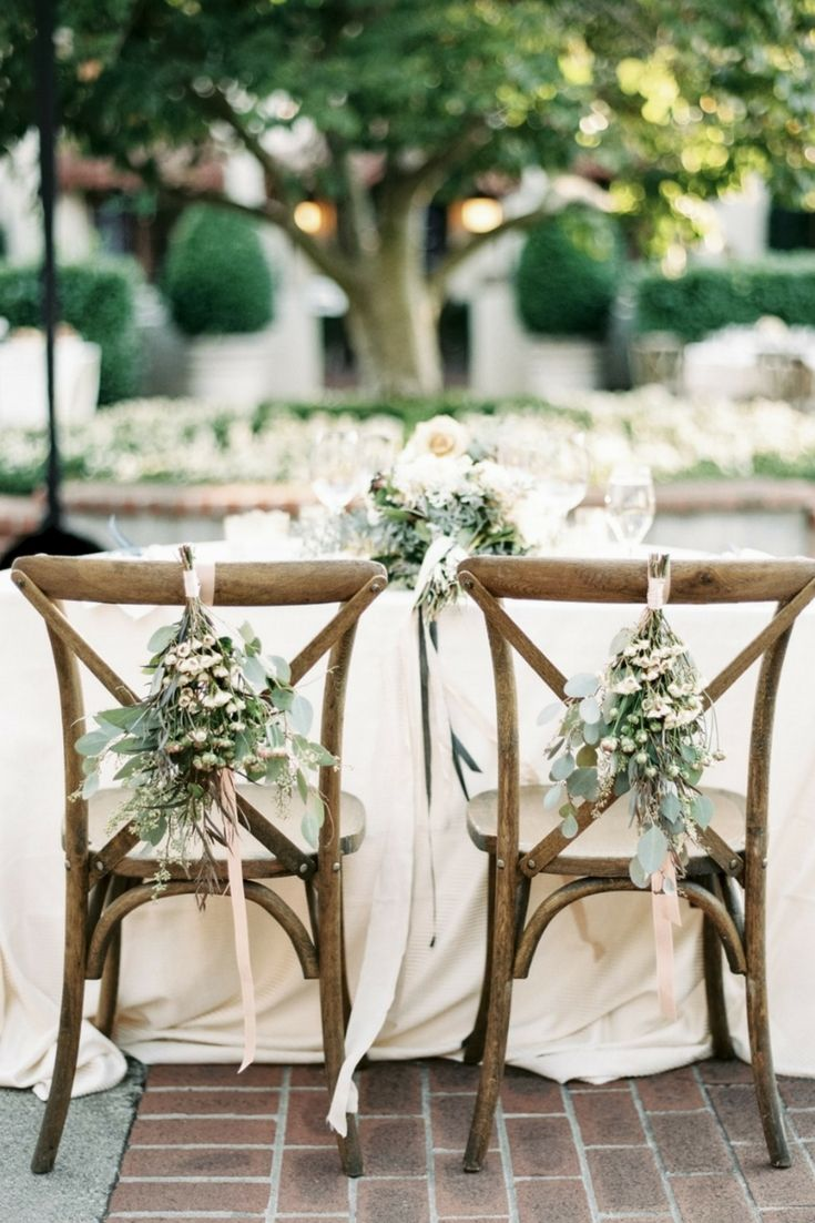 Greenery Bundle Chair Decor // sweetheart table, bride and groom, rustic