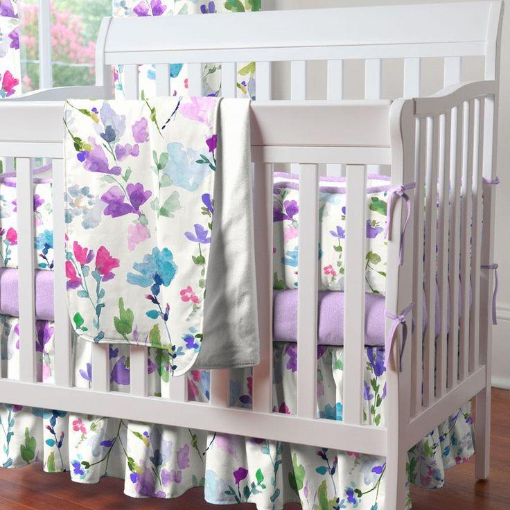 69$ Portable Crib Skirt in Wildflower Garden by Carousel Designs.