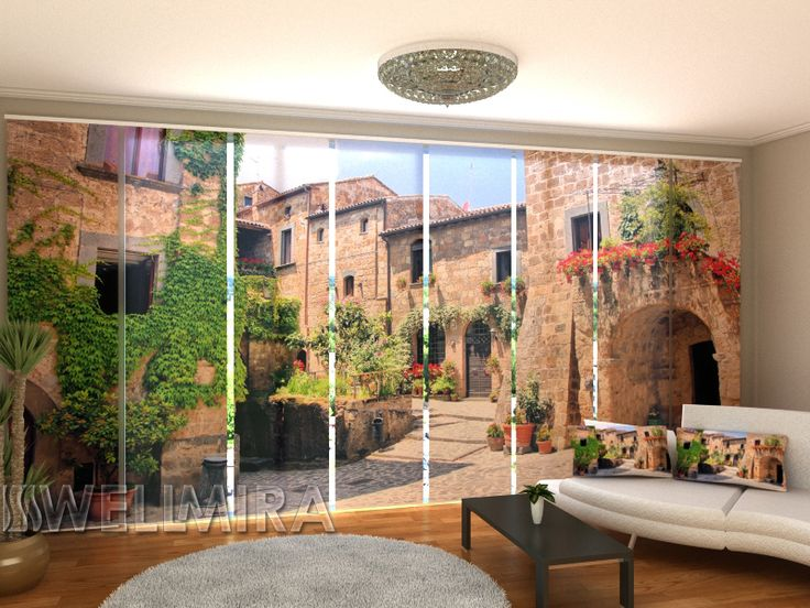 Set of 8 Panel Curtains Picturesque Corner  of Italy #Wellmira #ModernCurtains #PanelCurtains #Curtains #JapaneseCurtains #Fotogardine #Schiebevorhang #Flächenvorhang #Schiebegardine #Italy  https://wellmira.com/collections/sets-of-8-panel-curtains/products/set-of-8-panel-curtains-picturesque-corner-of-italy?variant=25761818503