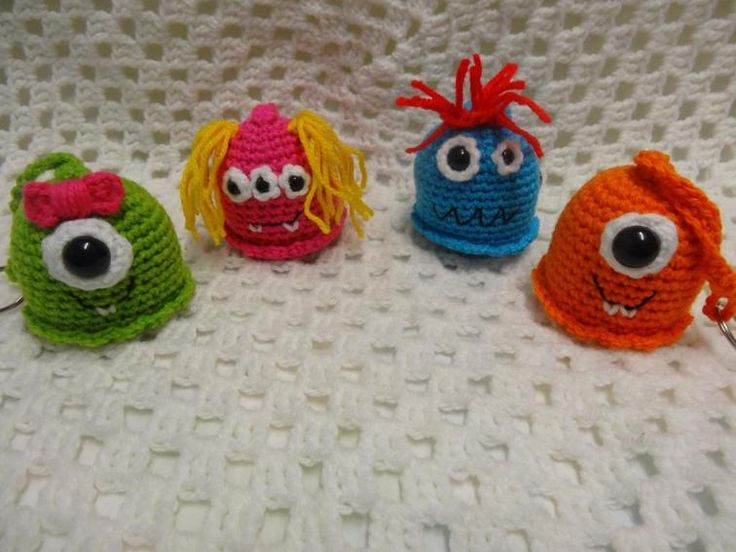 Crochet Amigurumi Keychain Free Pattern : Best crochet key chain images blue prints