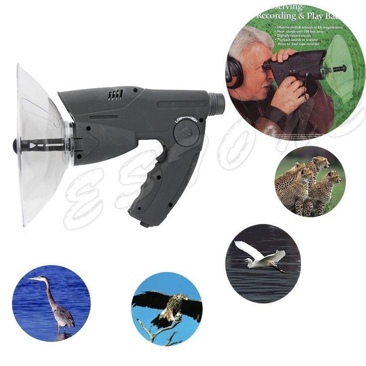 Extreme Sound Amplifier Ear Bionic Birds Recording Watcher Spy Listening Device #Unbranded