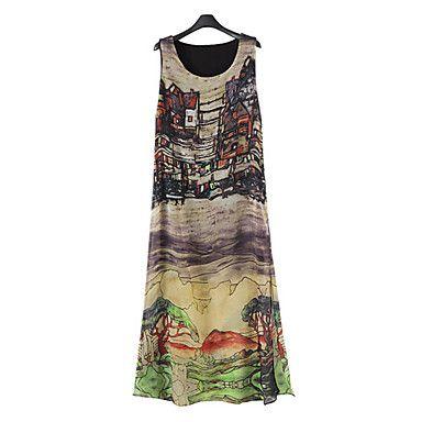 Платье+-+Средней+длины+-+Шифон+-+На+каждый+день/С+принтами+-+На+подкладке+–+RUB+p.+636,86