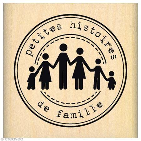 Tampon Divers - Histoires de famille - 5 x 5 cm