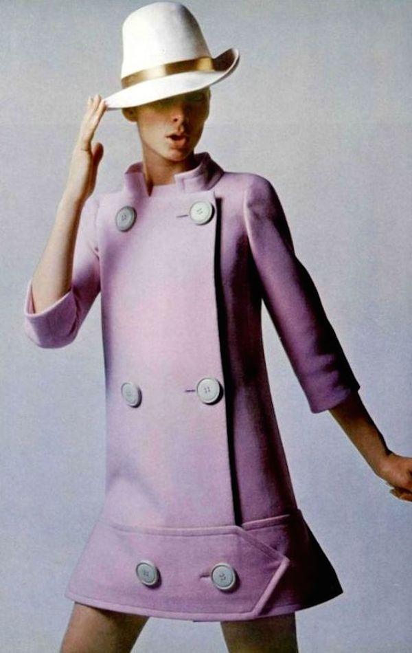 manteau pastel années 60
