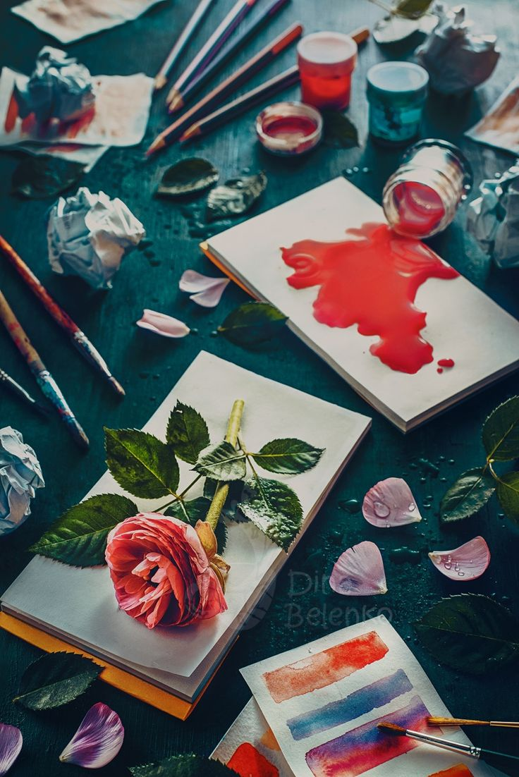"""Painting flowers: stains and sketches - From series """"I surrender""""  News and work in progress can be found on <a href=""""https://instagram.com/dinabelenko""""> my Instagram page</a>"""
