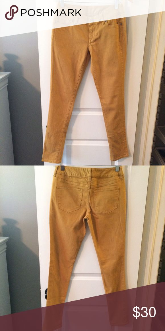 Limited Mustard Yellow Skinny Jeans EUC Limited mustard yellow skinny jeans. Perfect for fall! These jeans are in perfect condition - no stains or rips. Worn 2-3 times. The Limited Jeans Skinny