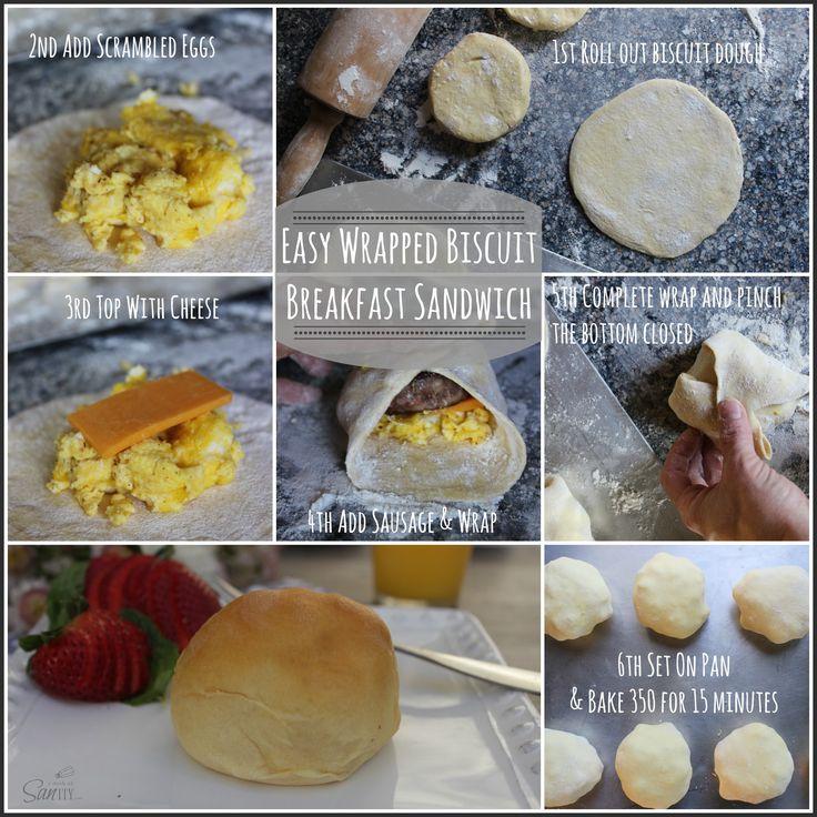 Easy Wrapped Biscuit Breakfast Sandwich