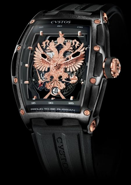 CVSTOS Proud to Be Russian - Gérard Depardieu Edition Limited Edition Black Steel with  Red Gold components