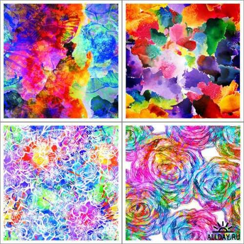 Watercolor abstract backgrounds / Акварельные абстрактные фоны