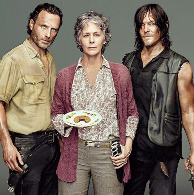Image result for Rick, carol, Daryl