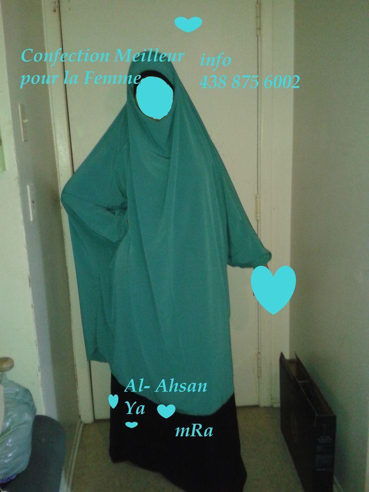 jilbab one piece a porter avec jupe ou pants
