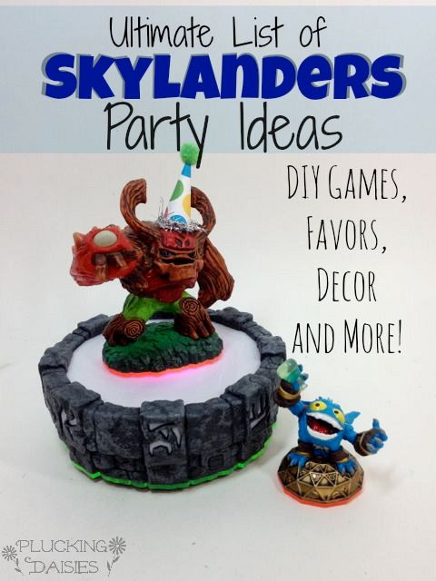Ultimate List of Skylanders Party Ideas :  DIY Games, Decor, and Party Favors.  Plus the best places to shop for supplies!  | Pluckingdaisie...
