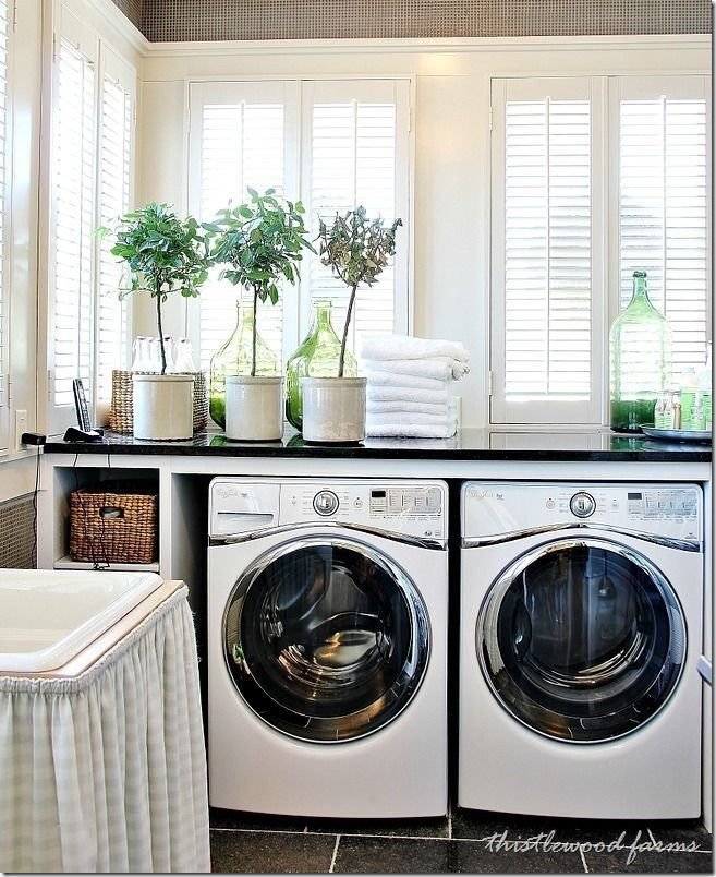 I love tidy laundry rooms                                                                                                                                                     Plus