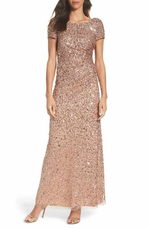 548 best blush weddings images on pinterest bridal for Adrianna papell wedding guest dresses