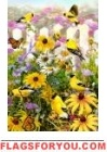 Goldfinch Wildflowers House Flag