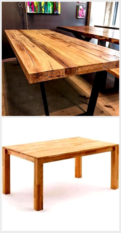 Rustikales Altes Holz Auf Industriestahl Holz Tischmobel