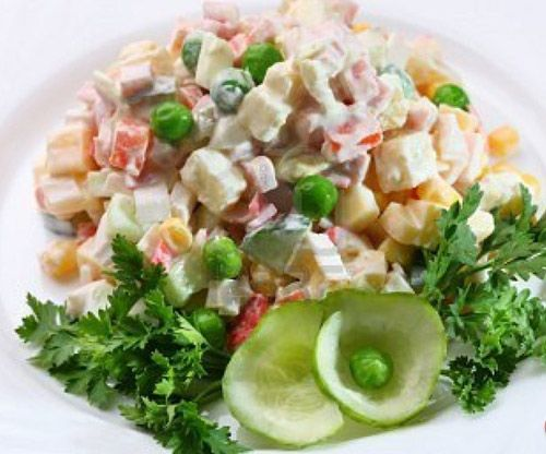 How to Make Russian Salad Ingredients: Potatoes boiled and cubed – 3 Carrots boiled and chopped – 3 Green peas shelled and boiled – 1 cup Cabbage chopped fine – 1 medium Apple sprinkle with a little sugar – 3 Pineapple bits – 1 small can Fresh cream – 1 cup Plain Mayonnaise (bought or …