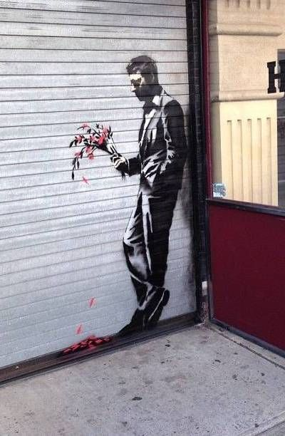 WAITING IN VAIN   Banksy   2013