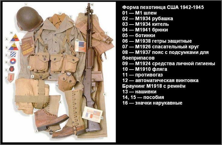 Пехота, США, 1942-1945