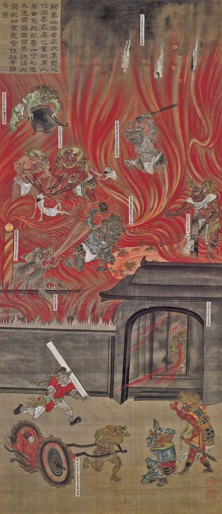 Animusinviolabilis: Avici, The Lowest Level Of Buddhist Hell六道 ɘ�鼻地獄幅