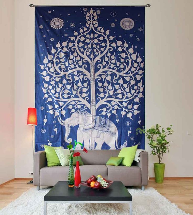 Elephant tree of life psychedelic tapestry