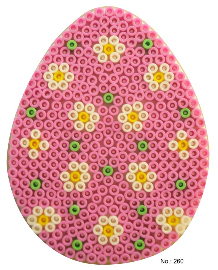 Easter pink egg hama perler pattern - HAMA I could see doing these in counted cross stitch or small beads that I have.