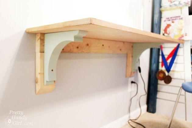 Wall-Mounted Desk Tutorial | Pretty Handy Girl