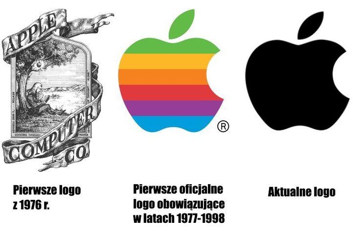 Prototyp logo jednej z najważniejszych i najbardziej znanych firm technologicznych świata został opracowany w 1976 r. przez Steve'a Jobsa i Ronalda Wayne'a. Przedstawiało Isaaca Newtona siedzącego pod drzewem. Jednak skomplikowany znak graficzny nie przyjął się i już rok później Rob Janoff uprościł logo i stworzył słynne nadgryzione jabłko, które przez dziesięciolecia funkcjonowało w tęczowej wersji. W 1998 r. logo Apple zostało poddane kolejnemu odświeżeniu.