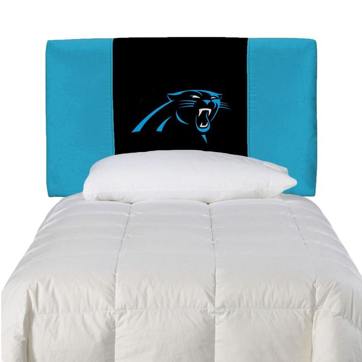 A Twin Size Headboard With All The Pizzazz Of The Carolina Panthers.