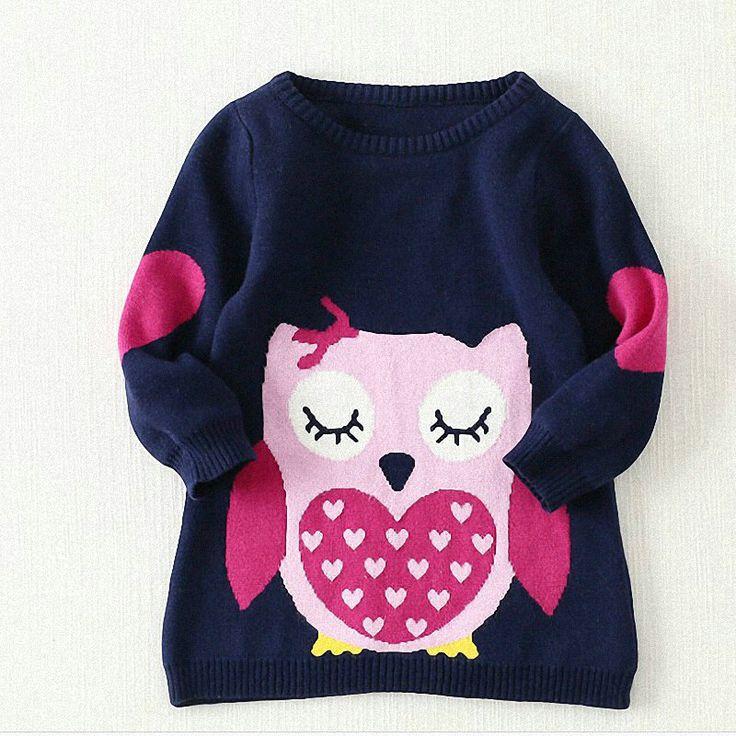 Belababy marcas blusas bebê meninas inverno 2017 nova menina manga longa roupas de malha crianças outono camisola coruja dos desenhos animados para meninas em Blusas de Mãe & Kids no AliExpress.com | Alibaba Group