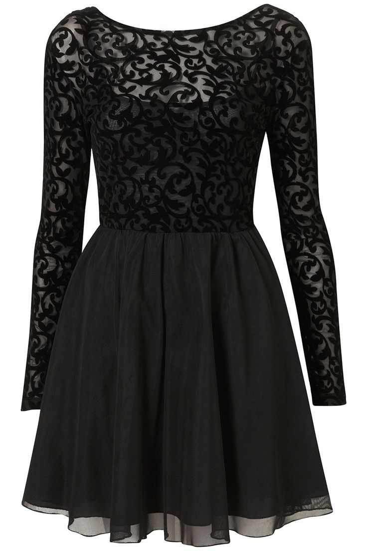 Baroque Dress / Motel: Christmas Parties, Christmas Party Dresses, Lace Tops, Parties Dresses, Baroque Dresses, Black Laces, Little Black Dresses, Black Lace Dresses, Long Sleeve Dresses