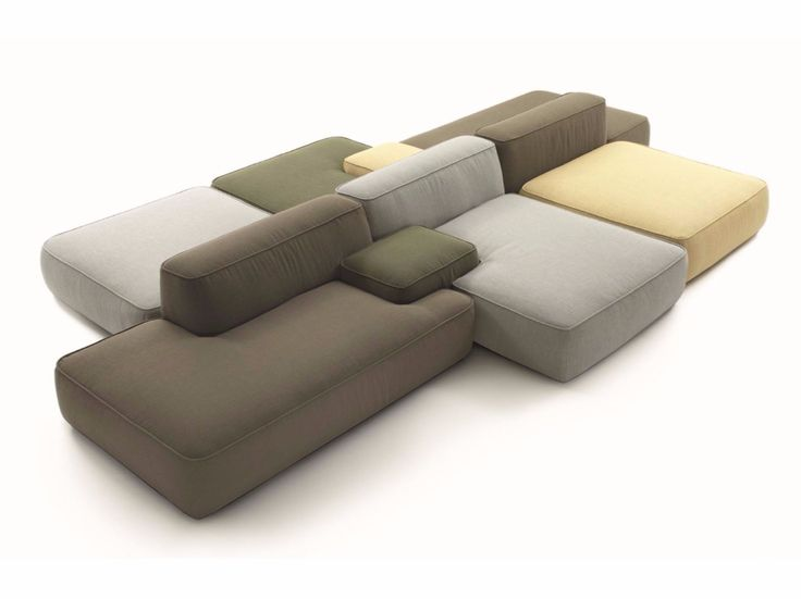 Divano componibile in tessuto CLOUD by Lema design Francesco Rota