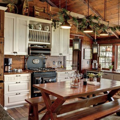 25 best ideas about cabin kitchens on pinterest log Cabin kitchen decor