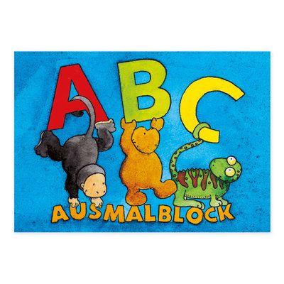 Malbuch ABC im DIN A5 und DIN A7 Format. #GrätzVerlag #Schulanfang https://www.graetz-verlag.de/malbuch-abc-27-blatt