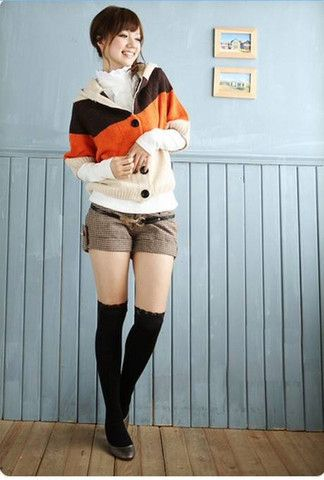 Color Strips Bat-wing Sleeve Sweater – teeteecee - fashion in style