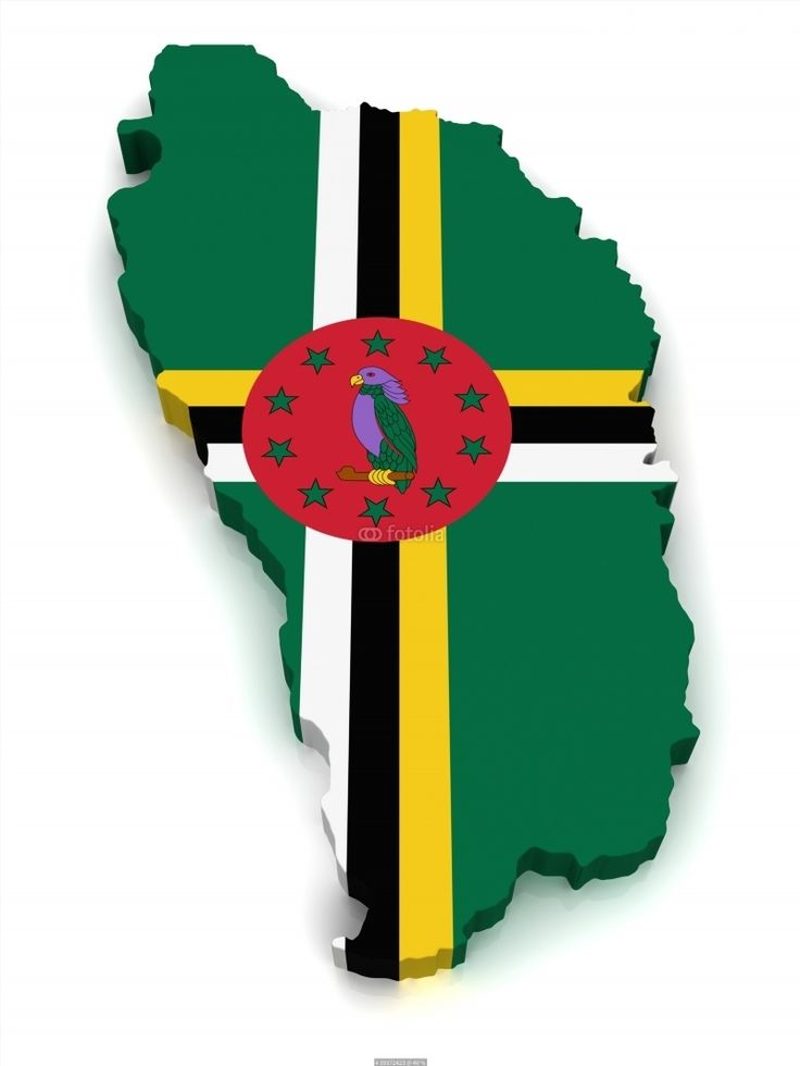 3D Map of Dominica poster 71 best