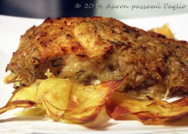 """""""Aaron passami l'aglio"""": TRANCIO DI SALMONE IN CROSTA DI PATATE, CIPOLLE ED..."""