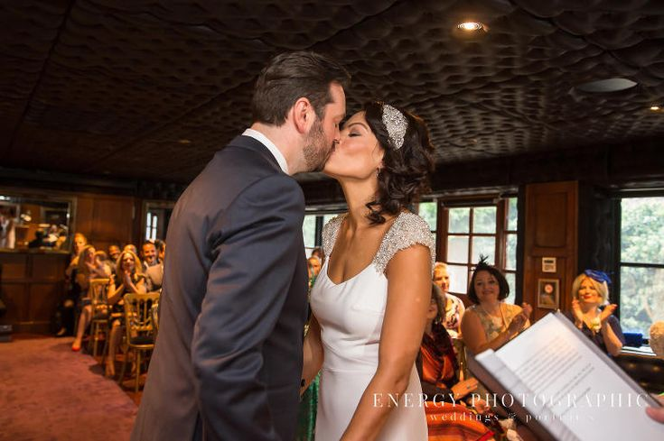 Crazy Bear wedding ceremony - the First Kiss between the bride and groom