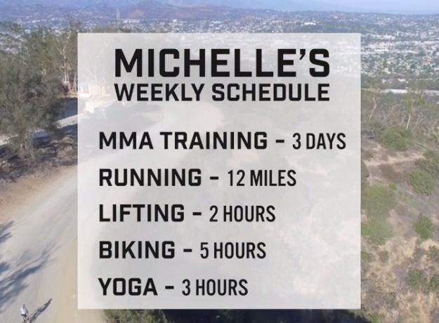 Michelle's training schedule consisted of the following: | We Trained Like UFC Fighters For 60 Days And Shit Got Intense