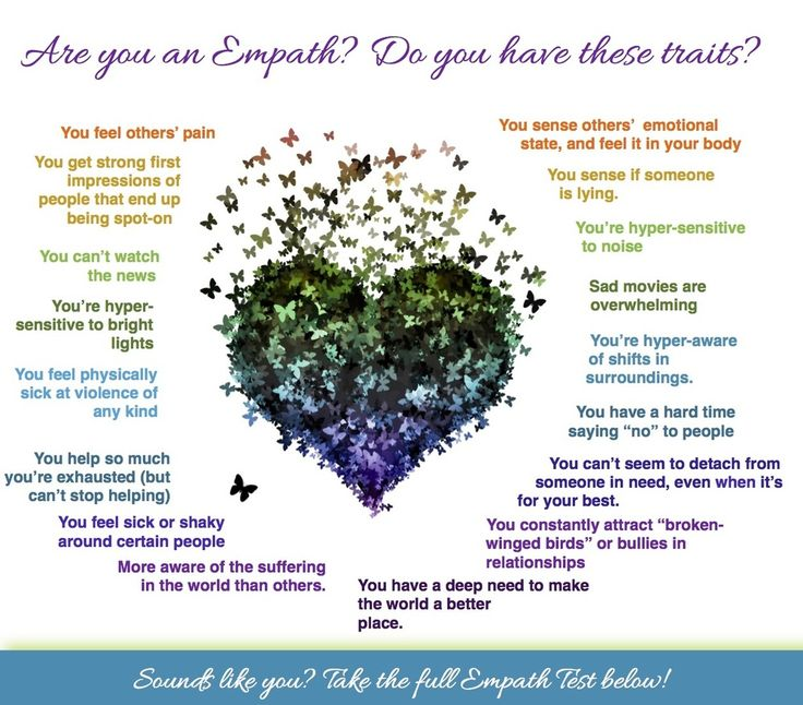 Are You an Empath? Do you have these 25 Traits of Empathic People?  If you've ever felt someone else's pain or sensed the shift in energy in a room without knowing what caused it, you might just be an Empath.See how many of the following Empath traits you resonate with...    Are you an Empath? Take the Empath Test to find out: