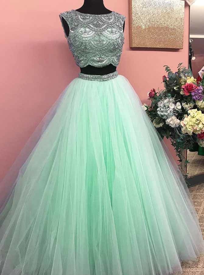 Mint Green Prom Dresses for Teens Princess c9b9a910de18