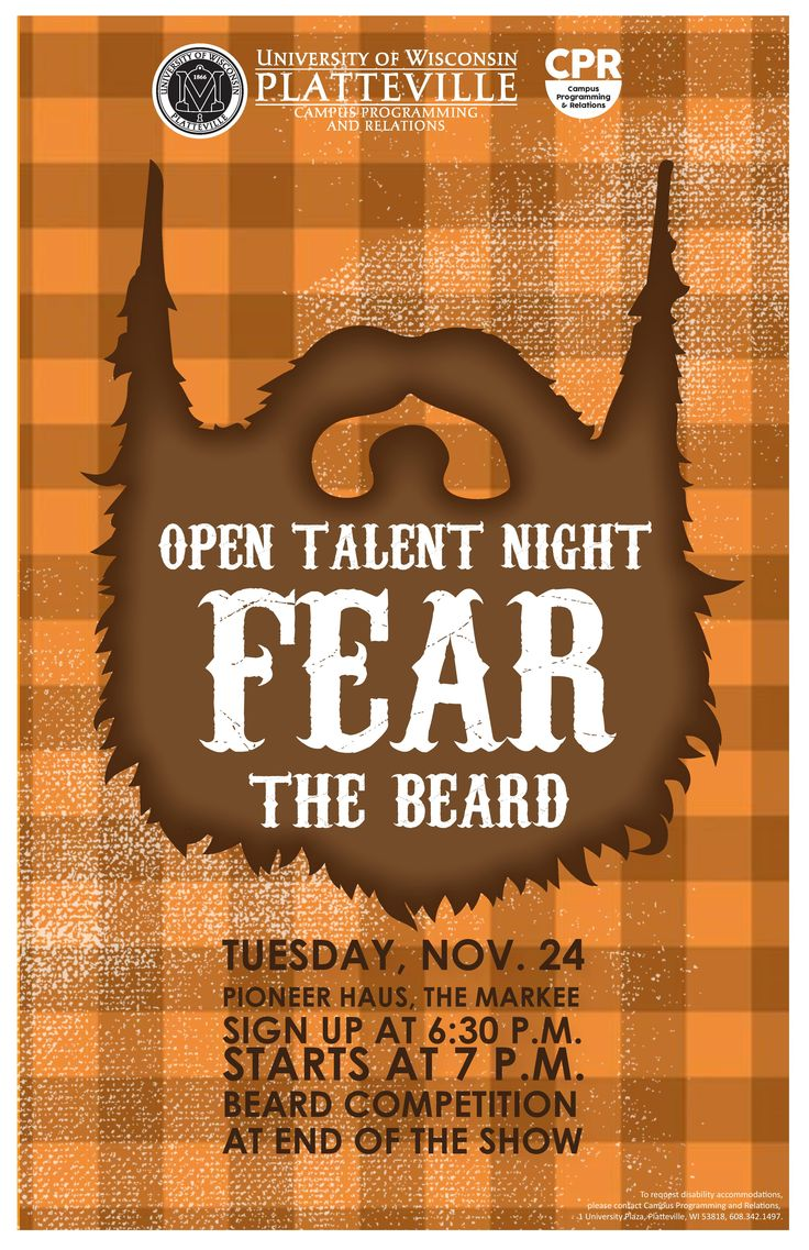 Open Talent Night and Fear the Beard